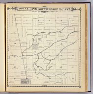 Township 22 South, Range 25 East, Tulare Co., California. (Compiled, drawn and published by Thos. H. Thompson, Tulare, Cal. 1892)