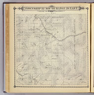 Township 22 South, Range 29 East, Tulare Co., California. (Compiled, drawn and published by Thos. H. Thompson, Tulare, Cal. 1892)