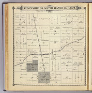Township 23 South, Range 25 East, Tulare Co., California. (Compiled, drawn and published by Thos. H. Thompson, Tulare, Cal. 1892)