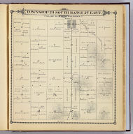 Township 23 South, Range 27 East, Tulare Co., California. (Compiled, drawn and published by Thos. H. Thompson, Tulare, Cal. 1892)