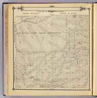 Township 23 South, Township 22 South, Range 30 East, Range 31 East, Tulare Co., California. (Compiled, drawn and published by Thos. H. Thompson, Tulare, Cal. 1892)