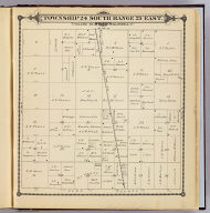 Township 24 South, Range 25 East, Tulare Co., California. (Compiled, drawn and published by Thos. H. Thompson, Tulare, Cal. 1892)