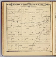 Township 24 South, Range 26 East, Tulare Co., California. (Compiled, drawn and published by Thos. H. Thompson, Tulare, Cal. 1892)