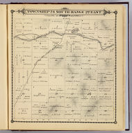 Township 24 South, Range 27 East, Tulare Co., California. (Compiled, drawn and published by Thos. H. Thompson, Tulare, Cal. 1892)