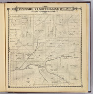 Township 24 South, Range 29 East, Tulare Co., California. (Compiled, drawn and published by Thos. H. Thompson, Tulare, Cal. 1892)