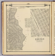 Township 24 South ... Township 21 South, Range 36 East, Range 37 East, Tulare County, California. (with) Map of Exeter ... (Compiled, drawn and published by Thos. H. Thompson, Tulare, Cal. 1892)