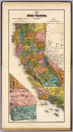 Map of the state of California, compiled expressly for Thos. H. Thompson, publisher, Tulare, Cal. Issued with the Fresno County atlas. Lith. Britton & Rey, S.F. (1891)