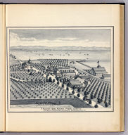 Fancher Creek Nursery, Fresno County. F. Roeding, proprietor, G.C. Roeding, manager, Fresno, Cal. (Compiled, drawn and published from personal examinations and surveys by Thos. H. Thompson, Tulare, California, 1891)