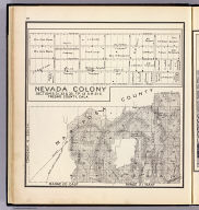 Range 20 East, Range 21 East, Township 6 South. (with) Nevada Colony, sections 31, 32 & 33., Tp. 13 S., R. 21 E., Fresno County, Cala. (Compiled, drawn and published ... by Thos. H. Thompson, Tulare, California, 1891)