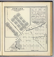 Range 13 East, Range 14 East, Township 10 South, T.P. 9 S. (with) Fowler ... (with) Temperance Colony ... (Compiled, drawn and published ... by Thos. H. Thompson, Tulare, California, 1891)