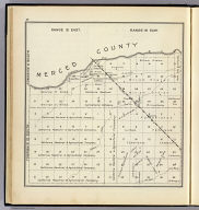 Range 15 East, Range 16 East, Township 10 South, Township 9 South. (Compiled, drawn and published ... by Thos. H. Thompson, Tulare, California, 1891)