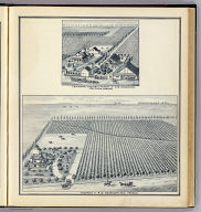 Vineyard of A.G. Deardorff, M.D., Fresno. (with) Centennial Vineyard and Winery of C.G. Anderson, Fruitvale, Fresno. (Compiled, drawn and published from personal examinations and surveys by Thos. H. Thompson, Tulare, California, 1891)