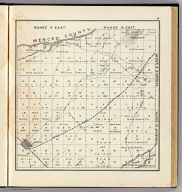Range 17 East, Range 18 East, Township 10 South, Township 9 South. (Compiled, drawn and published ... by Thos. H. Thompson, Tulare, California, 1891)