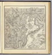 Range 21 East, Range 22 East, Township 10 South, Township 9 South. (Compiled, drawn and published ... by Thos. H. Thompson, Tulare, California, 1891)