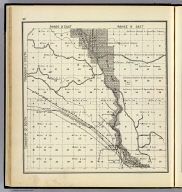 Range 13 East, Range 14 East, Township 12 South, Township 11 South. (Compiled, drawn and published ... by Thos. H. Thompson, Tulare, California, 1891)