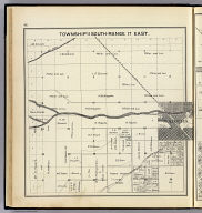 Township 11 South, Range 17 East. (Compiled, drawn and published ... by Thos. H. Thompson, Tulare, California, 1891)