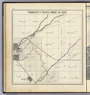 Township 11 South, Range 18 East. (Compiled, drawn and published ... by Thos. H. Thompson, Tulare, California, 1891)