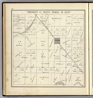 Township 12 South, Range 18 East. (Compiled, drawn and published ... by Thos. H. Thompson, Tulare, California, 1891)
