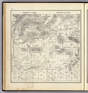 Range 21 East, Range 22 East, Township 12 South, Township 11 South. (Compiled, drawn and published ... by Thos. H. Thompson, Tulare, California, 1891)