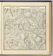 Range 23 East, Range 24 East, Township 12 South, Township 11 South. (Compiled, drawn and published ... by Thos. H. Thompson, Tulare, California, 1891)