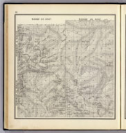 Range 25 East, Range 26 East, Township 10 South, Township 9 South. (Compiled, drawn and published ... by Thos. H. Thompson, Tulare, California, 1891)