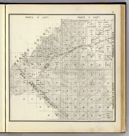 Range 10 East, Range 11 East, Township 14 South, Township 13 South. (Compiled, drawn and published ... by Thos. H. Thompson, Tulare, California, 1891)