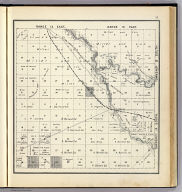 Range 14 East, Range 15 East, Township 14 South, Township 13 South. (Compiled, drawn and published ... by Thos. H. Thompson, Tulare, California, 1891)