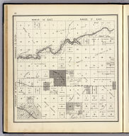 Range 16 East, Range 17 East, Township 14 South, Township 13 South. (Compiled, drawn and published ... by Thos. H. Thompson, Tulare, California, 1891)
