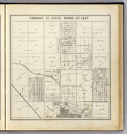 Township 13 South, Range 20 East. (Compiled, drawn and published ... by Thos. H. Thompson, Tulare, California, 1891)