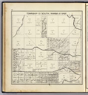 Township 13 South, Range 21 East. (Compiled, drawn and published ... by Thos. H. Thompson, Tulare, California, 1891)