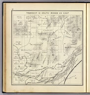 Township 13 South, Range 23 East. (Compiled, drawn and published ... by Thos. H. Thompson, Tulare, California, 1891)