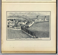 Residence, vinery and farm buildings on vineyard of 760 acres of Herman C. Eggers, Fresno. (Compiled, drawn and published from personal examinations and surveys by Thos. H. Thompson, Tulare, California, 1891)