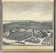 Caledonia Vineyard Co., Fresno, 1888. (Compiled, drawn and published from personal examinations and surveys by Thos. H. Thompson, Tulare, California, 1891)