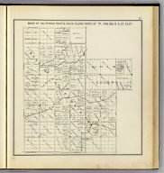 Bank of California Tract & Union Colony, parts of Tp. 14S. Rs. 19 & 20 East. (Compiled, drawn and published ... by Thos. H. Thompson, Tulare, California, 1891)