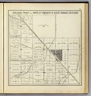 Malaga Tract and parts of Township 14 South, Ranges 20-21 East. (Compiled, drawn and published ... by Thos. H. Thompson, Tulare, California, 1891)