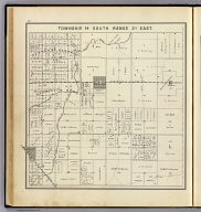 Township 14 South, Range 21 East. (Compiled, drawn and published ... by Thos. H. Thompson, Tulare, California, 1891)