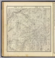 Range 24 East, Range 25 East, Township 14 South, Township 13 South. (Compiled, drawn and published ... by Thos. H. Thompson, Tulare, California, 1891)