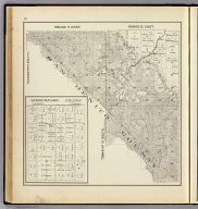 Range 11 East, Range 12 East, Township 15 South, Township 16 South. (with) Scandinavian Colony. (Compiled, drawn and published ... by Thos. H. Thompson, Tulare, California, 1891)