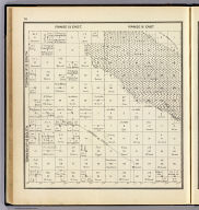 Range 15 East, Range 16 East, Township 16 South, Township 15 South. (Compiled, drawn and published ... by Thos. H. Thompson, Tulare, California, 1891)