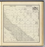 Range 17 East, Range 18 East, Township 16 South, Township 15 South. (Compiled, drawn and published ... by Thos. H. Thompson, Tulare, California, 1891)