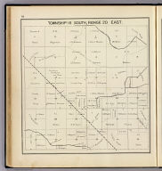 Township 16 South, Range 20 East. (Compiled, drawn and published ... by Thos. H. Thompson, Tulare, California, 1891)