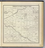 Township 16 South, Range 21 East. (Compiled, drawn and published ... by Thos. H. Thompson, Tulare, California, 1891)