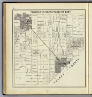 Township 16 South, Range 22 East. (Compiled, drawn and published ... by Thos. H. Thompson, Tulare, California, 1891)