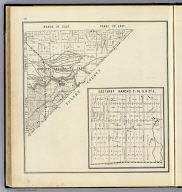 Range 21 East, Range 22 East, Township 18 South, Township 17 South. (with) Easterby Rancho T. 14. S., R. 21 E. (Compiled, drawn and published ... by Thos. H. Thompson, Tulare, California, 1891)