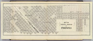 Map of central portion of Fresno. (Compiled, drawn and published ... by Thos. H. Thompson, Tulare, California, 1891)