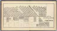 Map of southern portion of Fresno. (Compiled, drawn and published ... by Thos. H. Thompson, Tulare, California, 1891)