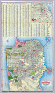 Street map of San Francisco. Prepared for Standard Oil Company of California ... Copyright by the H.M. Gousha Company, Chicago, San Jose. Lithographed in U.S.A. Chevron Supreme Gasoline ... (inset) Downtown San Francisco.