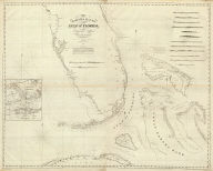 (Composite of) The Bahama Banks and Gulf of Florida by Edmund Blunt, hydrographer. (with) Chart of Key West by George Gauld. Engd. by R.M. Gaw, N.Y. Entered according to Act of Congress , the 30th day of October 1826 by E. & G.W. Blunt, of the State of New York. New York: published by E. & G.W. Blunt, 1827.
