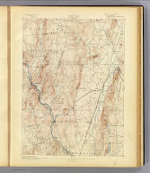 No. 10. Connecticut. Granby sheet. U.S. Geological Survey, J.W. Powell, Director. State of Connecticut ... commissioners. Henry Gannett, Chief Topographer. Marcus Baker, Topographer in charge. Triangulation by U.S. Coast and Geodetic Survey and S.S. Gannett. Topography by G.L. Johnson and W.M. Beaman. Surveyed in 1889-90. (1893)