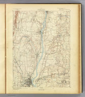 No. 11. Connecticut. Hartford sheet. U.S. Geological Survey, J.W. Powell, Director. State of Connecticut ... commissioners. Henry Gannett, Chief Topographer. Marcus Baker, Topographer in charge. Triangulation by U.S. Coast and Geodetic Survey and S.S. Gannett. Topography by J.H. Jennings. Surveyed in 1889. (1893)